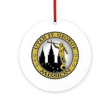 Utah St. George LDS Mission C Ornament (Round)