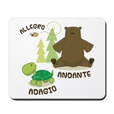Allegro Andante Music Quote Mousepad