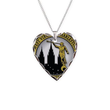 West Virginia Charleston LDS Necklace Heart Charm