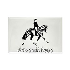 Dances With Horses Rectangle Magnet