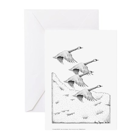 Geese Pen & Ink Greeting Cards (10 Pk)