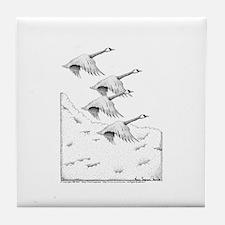 Canada Geese Pen & Ink Tile Coaster w