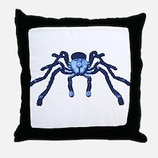 Cobalt Blue Taranchula Throw Pillow