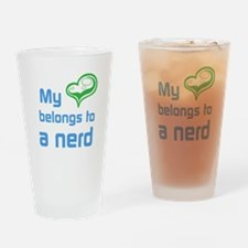 Nerd Love Drinking Glass