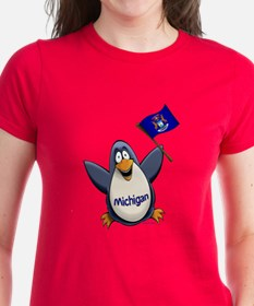 Michigan Penguin Tee