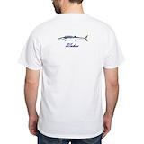 Blue wahoos Mens White T-shirts