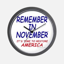 Remember November Wall Clock