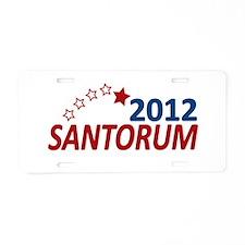 Vote Santorum 2012 Aluminum License Plate
