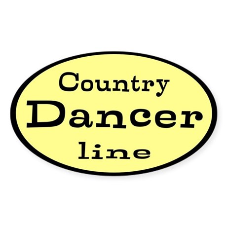 Country Line Dancer Custom Sticker (Oval)