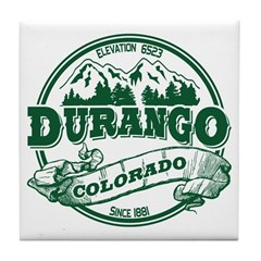 Durango Old Circle Tile Coaster