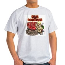 Dwarven BBQ King Ash Grey T-Shirt
