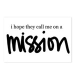 I hope the call me on a Missi Postcards (Package o