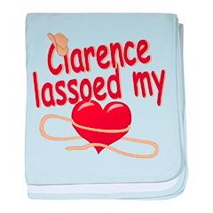Clarence Lassoed My Heart baby blanket