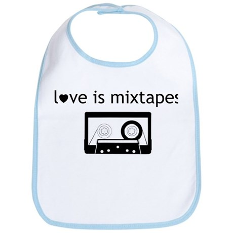 Love is Mix Tapes Bib
