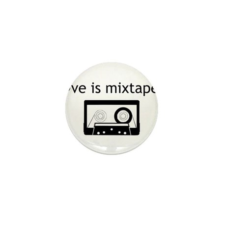 Love is Mix Tapes Mini Button