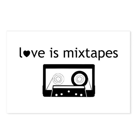 Love is Mix Tapes Postcards (Package of 8)