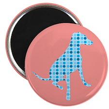 """Polka Dot Hound 2.25"""" Magnet (10 pack)"""