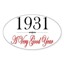 1931 Oval Decal