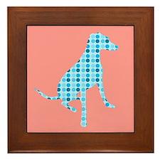 Polka Dot Hound Framed Tile