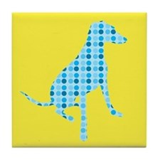 Polka Dot Hound Tile Coaster