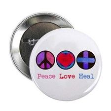 "Peace Love Heal 2.25"" Button (10 pack)"