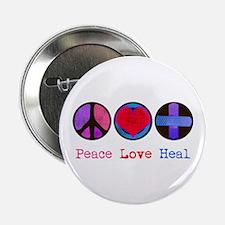 "Peace Love Heal 2.25"" Button"