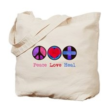 Peace Love Heal Tote Bag
