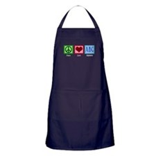 Peace Love ABC's Apron (dark)