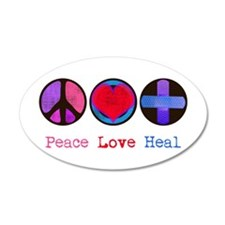 Peace Love Heal 22x14 Oval Wall Peel