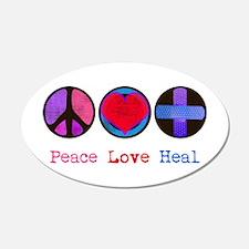 Peace Love Heal 22x14 Oval Wall Peel