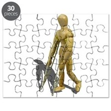 Model Walking with Crutches Puzzle