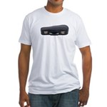 Music Case Laying Down Fitted T-Shirt