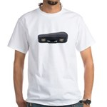 Music Case Laying Down White T-Shirt