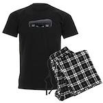 Music Case Laying Down Men's Dark Pajamas