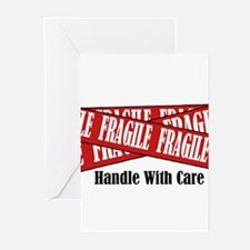 New Fragile Design Shirt Greeting Cards (Package o