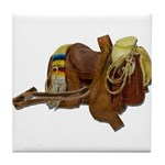 Old Western Saddle Tile Coaster