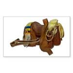 Old Western Saddle Sticker (Rectangle 50 pk)