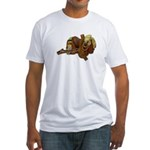 Old Western Saddle Fitted T-Shirt