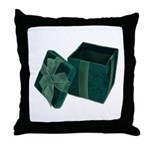 Open Velvet Gift Box Throw Pillow
