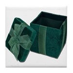 Open Velvet Gift Box Tile Coaster