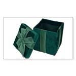 Open Velvet Gift Box Sticker (Rectangle 50 pk)