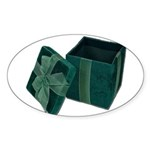 Open Velvet Gift Box Sticker (Oval 10 pk)