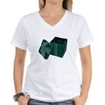 Open Velvet Gift Box Women's V-Neck T-Shirt