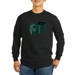 Open Velvet Gift Box Long Sleeve Dark T-Shirt