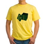 Open Velvet Gift Box Yellow T-Shirt