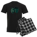 Open Velvet Gift Box Men's Dark Pajamas