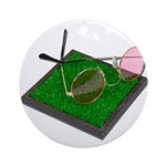 Rose Colored Glasses on the G Ornament (Round)