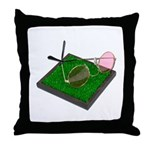 Rose Colored Glasses on the G Throw Pillow