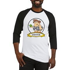 WORLDS GREATEST DIETER CARTOON Baseball Jersey
