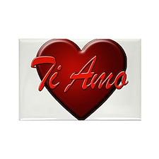 Ti Amo Heart Rectangle Magnet (10 pack)
